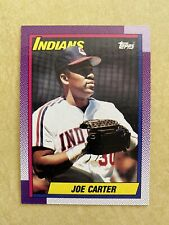 1990 Topps #580 Joe Carter Cleveland Indians Baseball Card And Wax Pack Wrapper