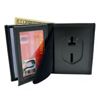 NCIS Special Agent Police Badge Wallet Bi-Fold Men's Recessed Black Leather 104
