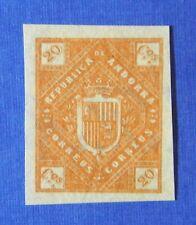 1875 ANDORRA SPANISH 20C UNISSUED STAMP SCOTT# - MICHEL #- UNUSED IMPERF CS25520
