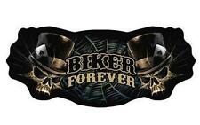 large JUMBO BIKER FOREVER SKULL JACKET BACK PATCH JBP32 skulls motorcycle new
