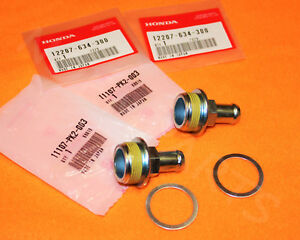 4 PC KIT OEM HONDA OIL CATCH CAN JOINT & WASHER FITTING HARDWARE B-SERIES