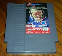Tecmo Super Bowl Nintendo Entertainment System NES 1991 video game works VINTAGE
