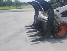 """New 72"""" EXTREME Root RAKE Grapple dual Cylinders--AMERICAN MADE!"""