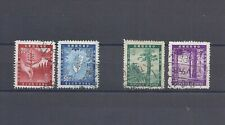 CHINA TAIWAN 1954-5 Sc#1096-7& 1109-10, Forest Conservation, Used. Scv$19.00