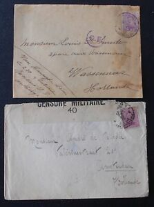 Belgium WWI Militairy post, 2 covers, fieldpost, military censor.