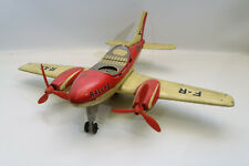 VINTAGE TIN TOY AEREO LATTA JOUSTRA FRANCE AVION FRICTION RALLYE