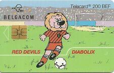 RARE / TELECARTE - FOOTBALL EQUIPE NATIONALE BELGIQUE DIABLES ROUGES / SPORT
