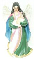 "Home Interiors HOMCO Porcelain Angel with Baby 7.5"" Tall Figurine #1436 Decor"