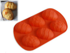 6 cell LARGE Easter Egg Creme Silicone Bakeware Mould Pan Chocolate cake soap
