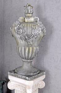 Pillar Cover Baroque Schmuckvase Gartenvase Crown Zaunpfeiler Weatherproof New