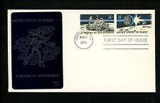 US FDC #1434-1435 Sarzin 1971 Houston TX Space Achievements Lunar Moon Rover