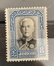 Johore Sg 130 Lmm Cat £25