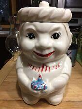 Vintage Baker Chef Boy Cookie Jar RARE