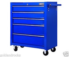 5 Drawers Roller Toolbox Cabinet Blue Sturdy workshop garage home mechanic ute