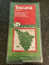 Tuscany Toscana tourist and road map in plastic wallet