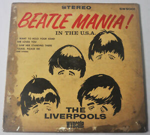 US Pressing BEATLE MANIA IN THE U.S.A! THE LIVERPOOLS LP Record