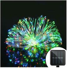 20M 200 LED RGB Solar Tree Fairy String Wedding Xmas Party Curtain Light Lamp