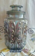 Atterbury Scroll Iridescent Glass Canister