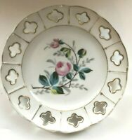 Vintage Plate Victoria Ceramic Pottery Bohemia Altrohlau Pink Rose Make Offer!