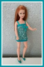 Rare Palitoy Pippa Doll Red hair Tammie in Blue dress for Dawn or Pippa