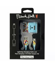 French Bull Lightning Charging Cable & Fast Charging 2.4A  Wall Adapter Kit -NEW