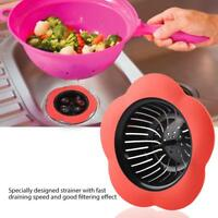Flower Shaped Plastic Basin Sink Strainer Drain Stopper Kitchen Bathroom Gadget