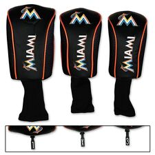 MIAMI MARLINS THREE-PACK LONG NECK GOLF HEAD COVERS BRAND NEW WINCRAFT