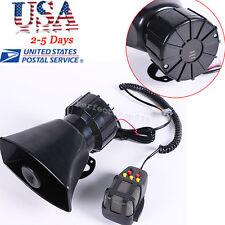 USA 100W 12V Car Truck Alarm Police Fire Loud Speaker PA Siren Horn W/MIC System