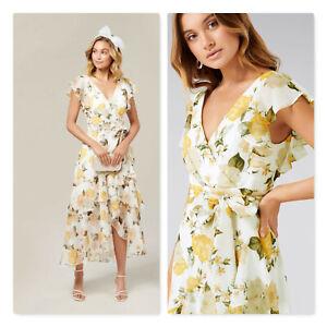 FOREVER NEW   Womens Tiffany Wrap Midi Dress [ Size AU 10 or US 6 ]