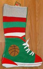 "Basketball Shoe Sneaker Christmas Stocking Nwt felt back 17""L"
