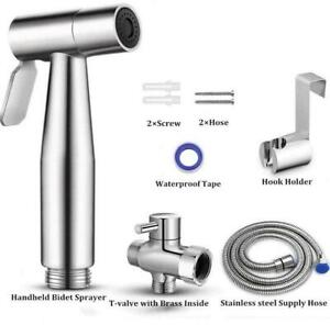 Premium Stainless Steel Toilet Bidet Spray Set Douche Shattaf for Home UK SELLER