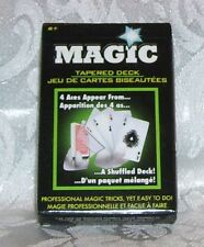 NEW DECK OF MAGIC TRICK TAPERED CARDS MAKE 4 ACES APPEAR FROM SHUFFLED CARDS