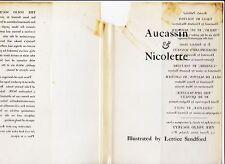 Aucassin & Nicolette trans. Bourdillon, 1947 early Folio Society w/acetate dj