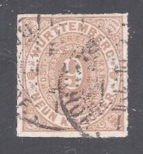 WURTTEMBERG STAMP #51 --  9kr NUMERAL -- 1873 -- USED