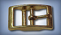 "1"" Square Double Bar Buckle - Bronze"