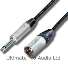 "7.5m Neutrik Male XLR to Mono Jack 1/4"" 6.35mm Jack Lead Van Damme Black Cable"