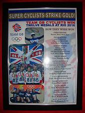 Team GB Rio 2016 Cycling Team Olympic Medals - framed print