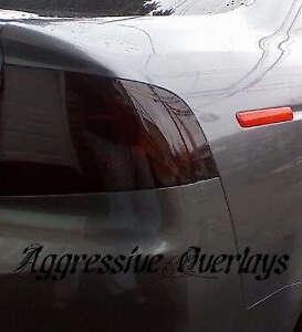 2004 - 2008 Acura TL Smoked Tail light Overlay film tint precut dark smoke