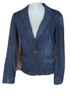 Ann Taylor Loft Women's JACKET Navy Cotton Denim Blazer, Size 4