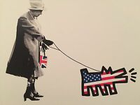 Queen Walking Dog print by DEATH NYC Ltd Ed Pop Art like Haring Obey Brainwash