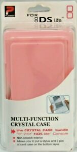 Playtech For Nintendo DS Lite Multi-Function Crystal Case Pink New Retail Pack