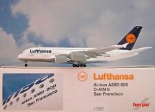 Herpa Wings 1:500 Airbus a380-800 Lufthansa D-aimn 515986-003 modellairport 500