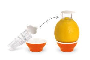 Patent-Safti,Entsafter,Safti,Zitronenpresse,Zitronen Ausgießer (Orange)