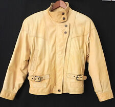 Adventure Bound Leather Biker Jacket Insulated Lining Size S