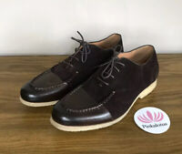 Vintage Foundry Basalt Brown Oxfords Suede Leather Shoes Size 10 $349