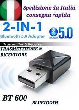 Trasmettitore Bluetooth e Ricevitore per Smart TV AUX e HIFI Trasmette Audio.