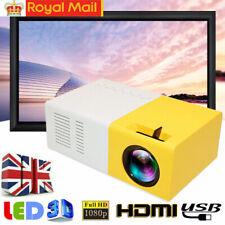 Portable Mini Projector J9 3D HD LED Home Theater Cinema 1080P AV USB HDMI`