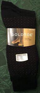 GOLD TOE SOCKS - BLACK - BRAND NEW