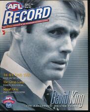 2001 AFL Football Record Western Bulldogs v Richmond July 27-29 Tigers
