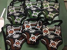6 NICE NERF Vests Dart Tag Lot Orange Green Team Ops Excellent